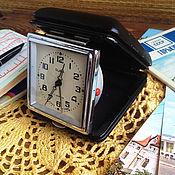 Часы- будильник дорожный  Слава