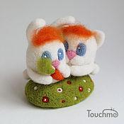 Куклы и игрушки ручной работы. Ярмарка Мастеров - ручная работа Зайка и Кот. Handmade.