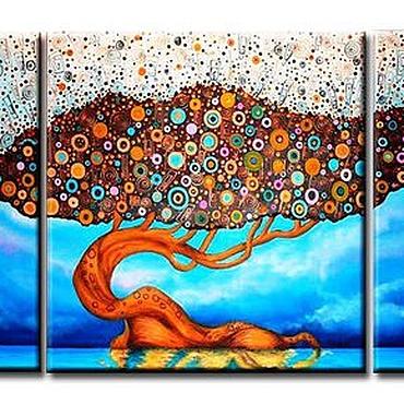 Картины и панно ручной работы. Ярмарка Мастеров - ручная работа Радужное дерево. Handmade.