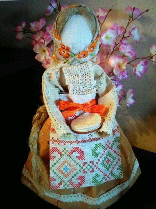 """Народные куклы ручной работы. Ярмарка Мастеров - ручная работа. Купить Сувенирная кукла  """"Масленица"""". Handmade. Комбинированный, обережная кукла"""