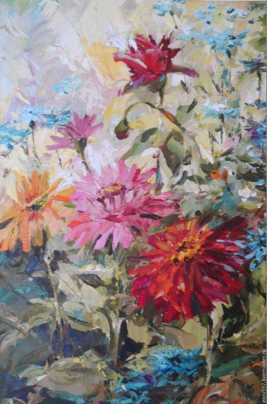 Картины цветов ручной работы. Ярмарка Мастеров - ручная работа. Купить живопись. Handmade. Холст масло, цветы, холст, масло