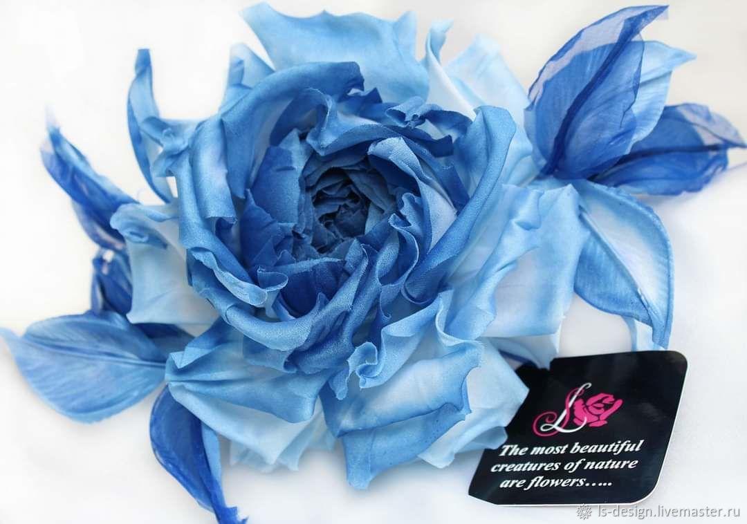 """Шелковая роза """"Голубая логуна"""", Цветы, Киев,  Фото №1"""