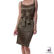 """Одежда ручной работы. Ярмарка Мастеров - ручная работа Платье-майка """"Черное Золото"""" вязаное из мягчайшей итальянской. Handmade."""