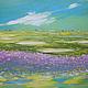"""Пейзаж ручной работы. Ярмарка Мастеров - ручная работа. Купить """"Лавандовое поле"""" картина маслом мастихином пейзаж. Handmade. Картина"""