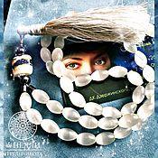 Фен-шуй и эзотерика handmade. Livemaster - original item The best protective white rosary with the brush 54 beads. Handmade.