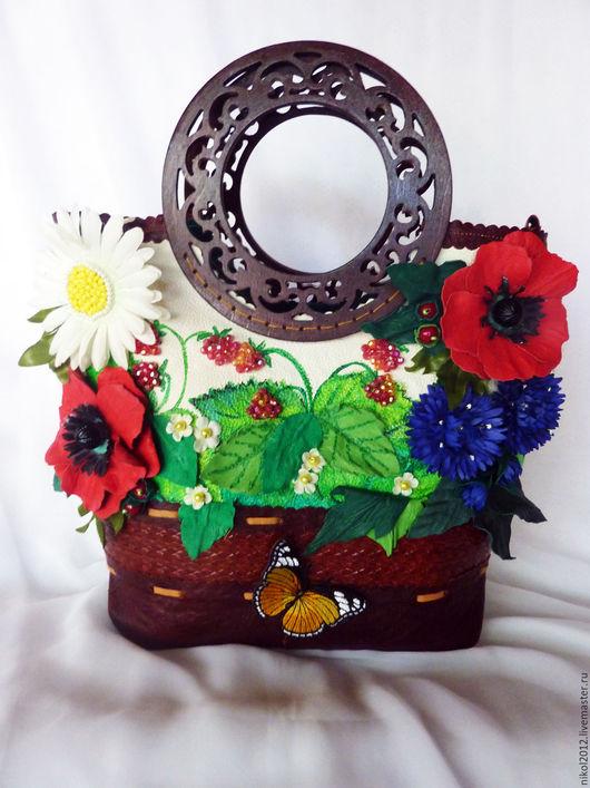 """Женские сумки ручной работы. Ярмарка Мастеров - ручная работа. Купить Сумка """"Лето это хорошо"""" в корзине. Handmade. Комбинированный"""