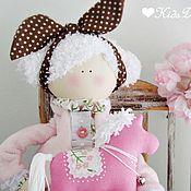 Куклы и игрушки ручной работы. Ярмарка Мастеров - ручная работа Куколка с розовой лошадкой. Handmade.