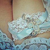 Свадебный салон ручной работы. Ярмарка Мастеров - ручная работа Свадебная подвязка. Handmade.