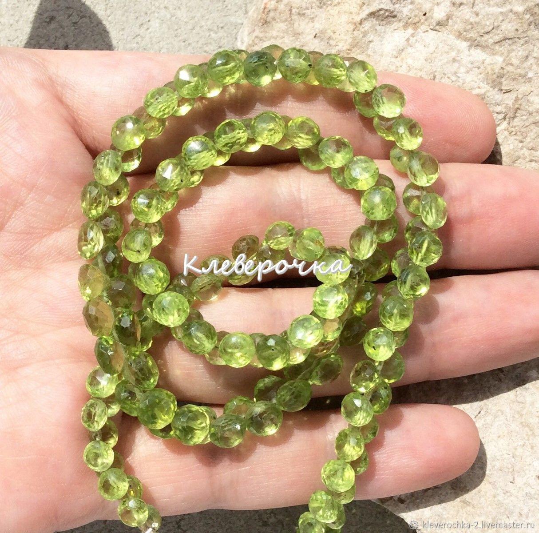 Хризолит 2 размера лук капли микроогранка, бусины камни, отличного качества. Хризолит бусины камни для украшений и бижутерии ручной работы.  Handmade.