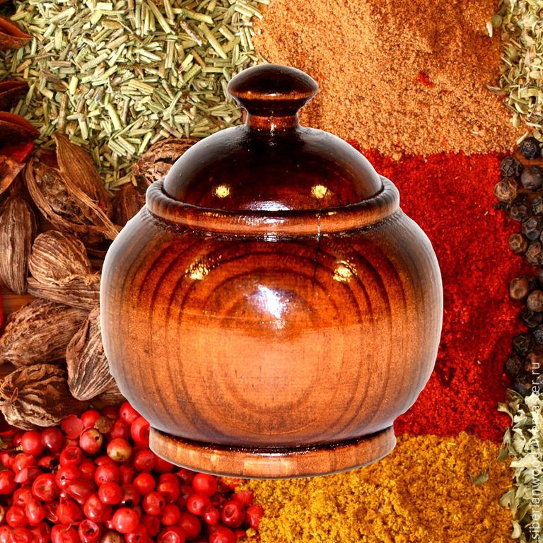 Potbelly small Wooden Bowl For spices Siberian Cedar #K17, Jars, Novokuznetsk,  Фото №1