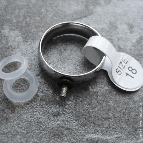 Кольцо, брошь с резьбой для сменных топов (кабошонов с резьбой внутри), Фурнитура, Думагете, Фото №1