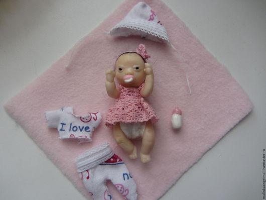 Куклы-младенцы и reborn ручной работы. Ярмарка Мастеров - ручная работа. Купить Малютка азиаточка Лия ростик 5,5 см. Handmade.