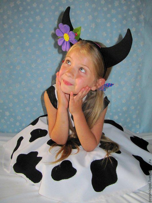 Детские карнавальные костюмы ручной работы. Ярмарка Мастеров - ручная работа. Купить Костюм коровы (карнавальный костюм). Handmade. Белый
