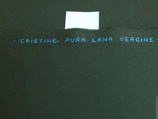 Шитье ручной работы. Ярмарка Мастеров - ручная работа. Купить Итальянская шерстяная ткань, Хаки. Handmade. Хаки, шерсть 100%