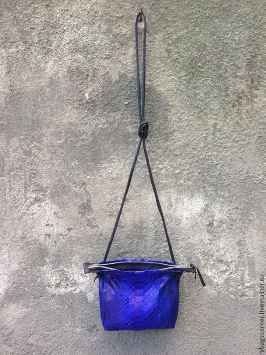 Женские сумки ручной работы. Ярмарка Мастеров - ручная работа. Купить Сумка Paper bag small из кожи питона. Handmade.
