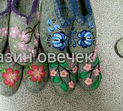 Обувь ручной работы. Ярмарка Мастеров - ручная работа Тапочки Гжель. Handmade.
