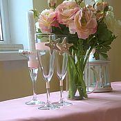 """Свадебный салон ручной работы. Ярмарка Мастеров - ручная работа свадебные бокалы """"Две звезды"""". Handmade."""