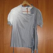 Винтаж handmade. Livemaster - original item Grey new blouse, white blouse France Cop Copine, Ombre, unusual. Handmade.