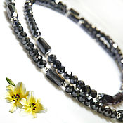 Украшения handmade. Livemaster - original item Necklace Royal black diamonds 100 ct buy. Handmade.