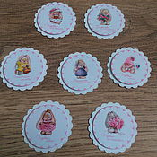 Материалы для творчества handmade. Livemaster - original item !Cutting scrapbooking Tags,Cards for mother`s treasures -a GIRL. Handmade.