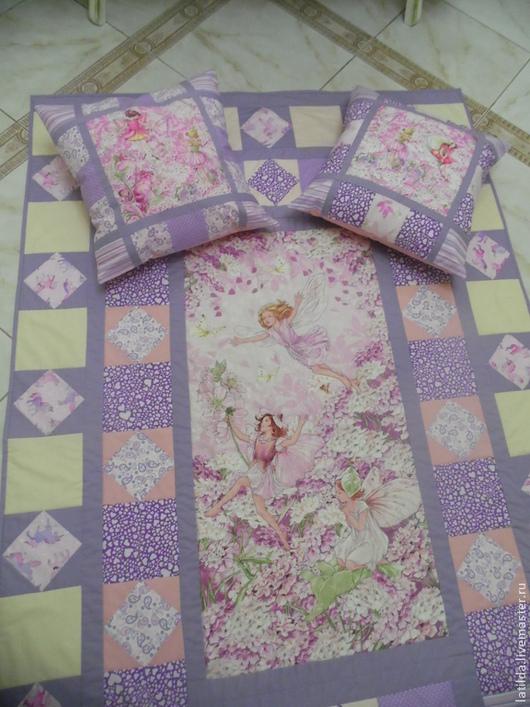 Текстиль, ковры ручной работы. Ярмарка Мастеров - ручная работа. Купить Лоскутное одеяло лавандовое. Handmade. Сиреневый, одеяло для девочки