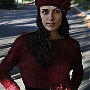 """Одежда ручной работы. Ярмарка Мастеров - ручная работа Валяное платье """"Осенняя черешня"""". Handmade."""
