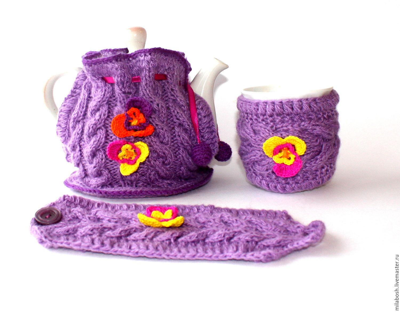Вяжем грелки на чайник своими руками 3