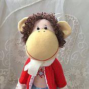 Куклы и игрушки ручной работы. Ярмарка Мастеров - ручная работа Новогодняя обезьянка. Handmade.