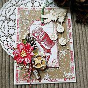 Открытки ручной работы. Ярмарка Мастеров - ручная работа Открытка новогодняя Письмо Деду Морозу. Handmade.