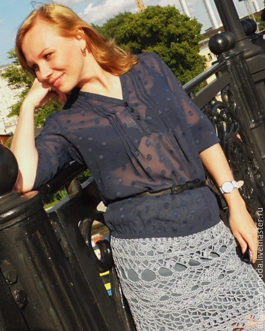 Юбки ручной работы. Ярмарка Мастеров - ручная работа. Купить Ажурная юбка GlamGrey (вместе с подъюбником). Handmade. Темно-серый