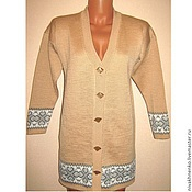 Одежда handmade. Livemaster - original item Knitted cardigan with buttons. Handmade.