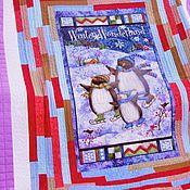 Для дома и интерьера ручной работы. Ярмарка Мастеров - ручная работа Лоскутное покрывало Пингвины лоскутное одеяло. Handmade.