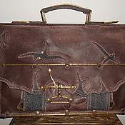 Портфель мужской Вестерн из натуральной кожи