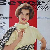 Книги винтажные ручной работы. Ярмарка Мастеров - ручная работа Beyer mode 2 /1960 Бурда Моден. Handmade.