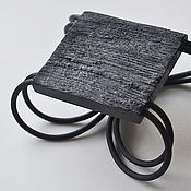 Украшения handmade. Livemaster - original item SILENZIO.  Square bracelet made of oak. Handmade.