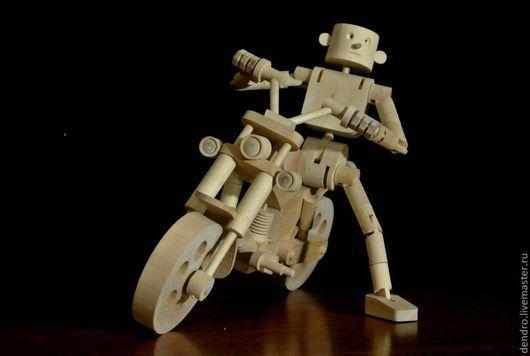 Человечки ручной работы. Ярмарка Мастеров - ручная работа. Купить Беспечный ездок. Handmade. Деревянная игрушка, сувенир, НАСТОЛЬНАЯ КОМПОЗИЦИЯ