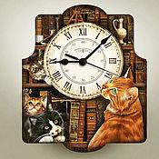 Часы классические ручной работы. Ярмарка Мастеров - ручная работа Часы настенные. Handmade.