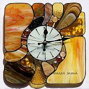 """Для дома и интерьера ручной работы. Ярмарка Мастеров - ручная работа Витражные часы """"Морские камушки....""""2. Handmade."""