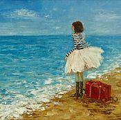 Картины и панно handmade. Livemaster - original item Oil painting the Dream of the sea. Handmade.
