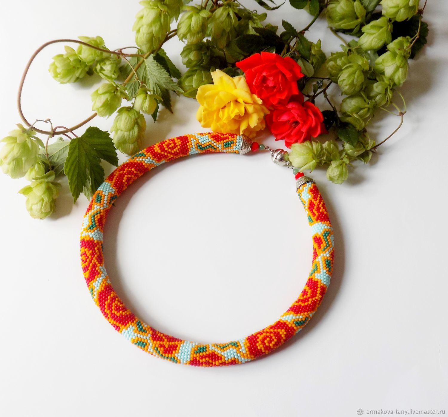 Roses, Necklace, Tolyatti,  Фото №1