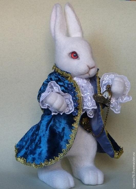 """Игрушки животные, ручной работы. Ярмарка Мастеров - ручная работа. Купить Белый кролик """"Алиса в стране чуде"""". Handmade. Белый"""