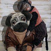 Куклы и игрушки handmade. Livemaster - original item Teddy dog breed Pug-Charlie. Handmade.