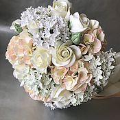 Свадебный салон handmade. Livemaster - original item Bridal bouquet with hydrangea and roses. Handmade.