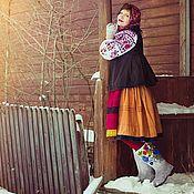 """Обувь ручной работы. Ярмарка Мастеров - ручная работа Валенки """"ПЕТРИКОВСКАЯ РОСПИСЬ"""".. Handmade."""