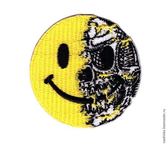 Аппликации, вставки, отделка ручной работы. Ярмарка Мастеров - ручная работа. Купить Нашивка Смайлик Smile Страйкбол strikeball. Handmade.
