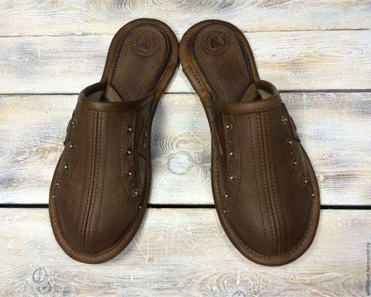 """Обувь ручной работы. Ярмарка Мастеров - ручная работа. Купить Кожаные тапочки """"Крокет"""". Handmade. Тапочки, купить подарок"""