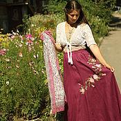 """Одежда ручной работы. Ярмарка Мастеров - ручная работа Юбка  с вышивкой """"Розы"""". Handmade."""