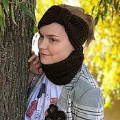 Аксессуары handmade. Livemaster - original item Set the PULL of the headband, the brooch, a collar-Snood-collar. Handmade.