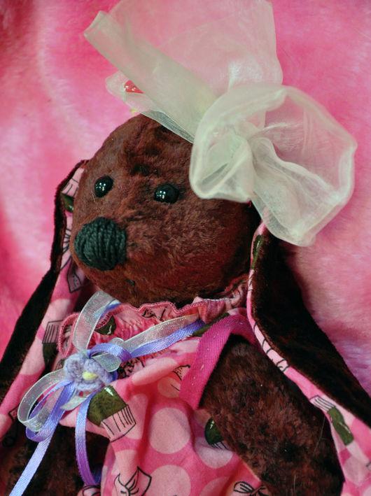 """Мишки Тедди ручной работы. Ярмарка Мастеров - ручная работа. Купить """" Вишневая зайка"""" плюшевая зайка. Handmade. Бордовый"""