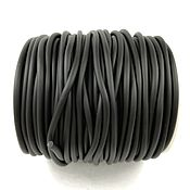 Cords handmade. Livemaster - original item Rubber cord 3 mm BLACK not hollow (Ref. 3005). Handmade.